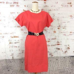 Vintage Handmade 'Coral' Sheath Dress Set